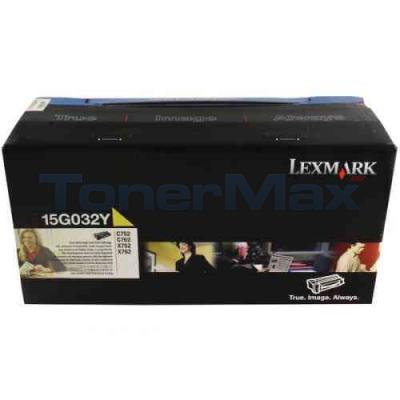 LEXMARK C752 LASER PRINT CART YELLOW 15K